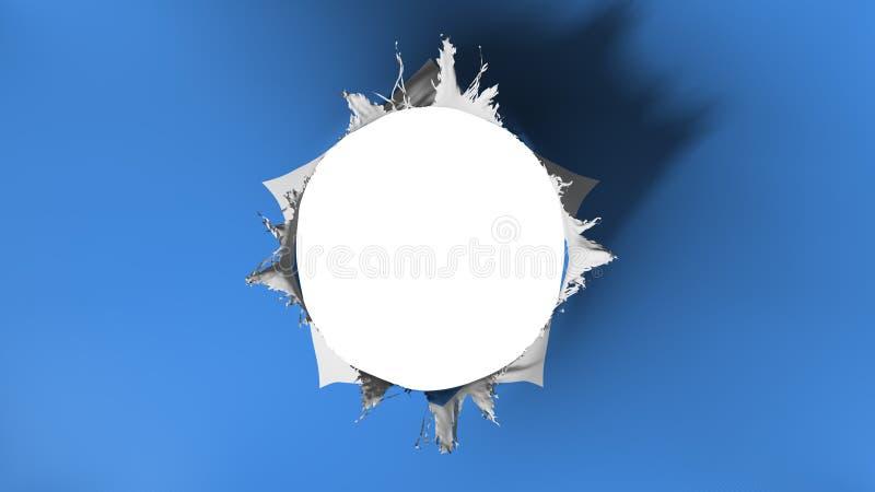 Gat dat in de vlag van Somalië wordt gesneden royalty-vrije illustratie
