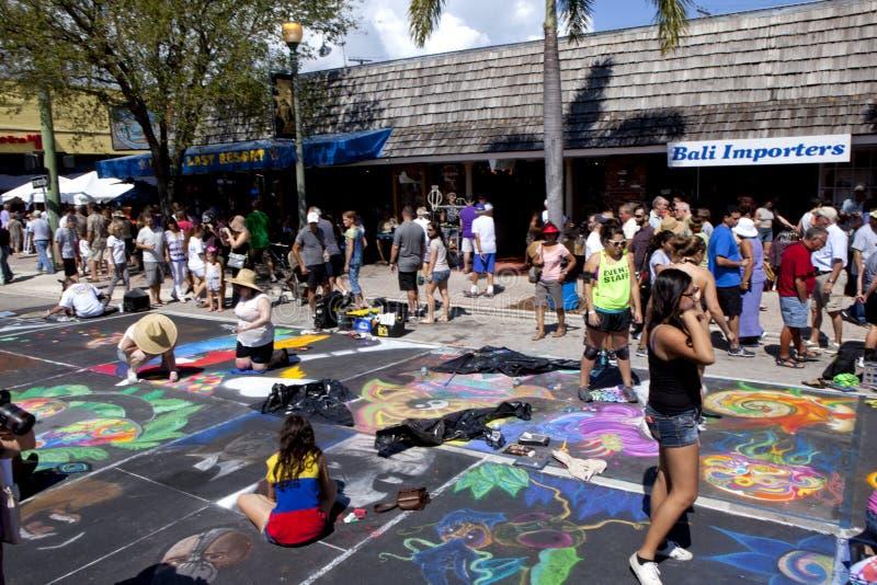 Gata Art Festival i sjövärde Florida arkivfoton