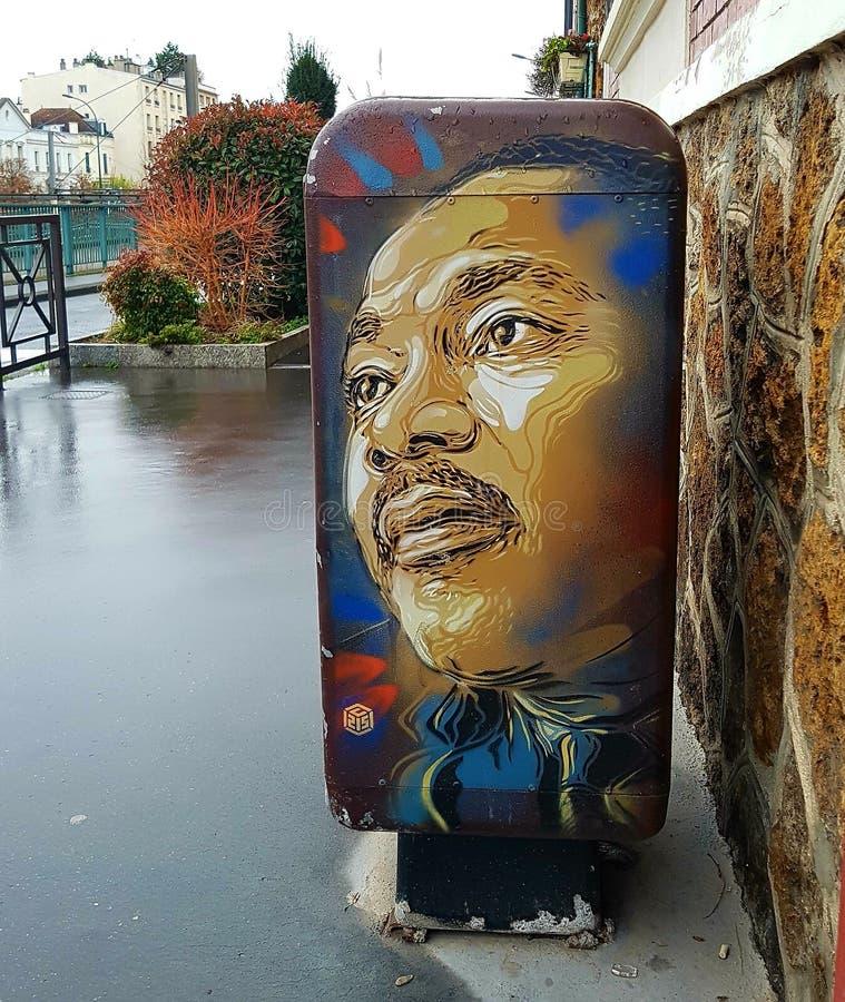 Gata Art Martin Luther King royaltyfri bild