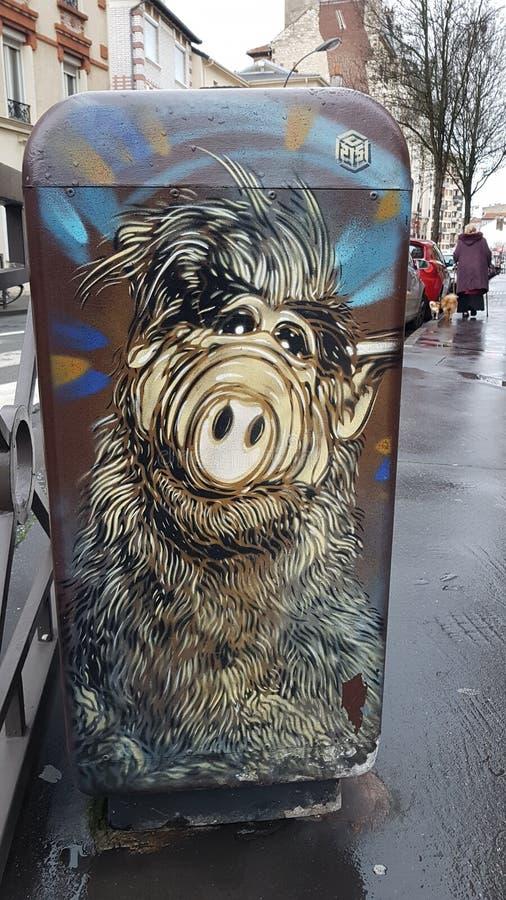 Gata Art Vincennes Alf fotografering för bildbyråer