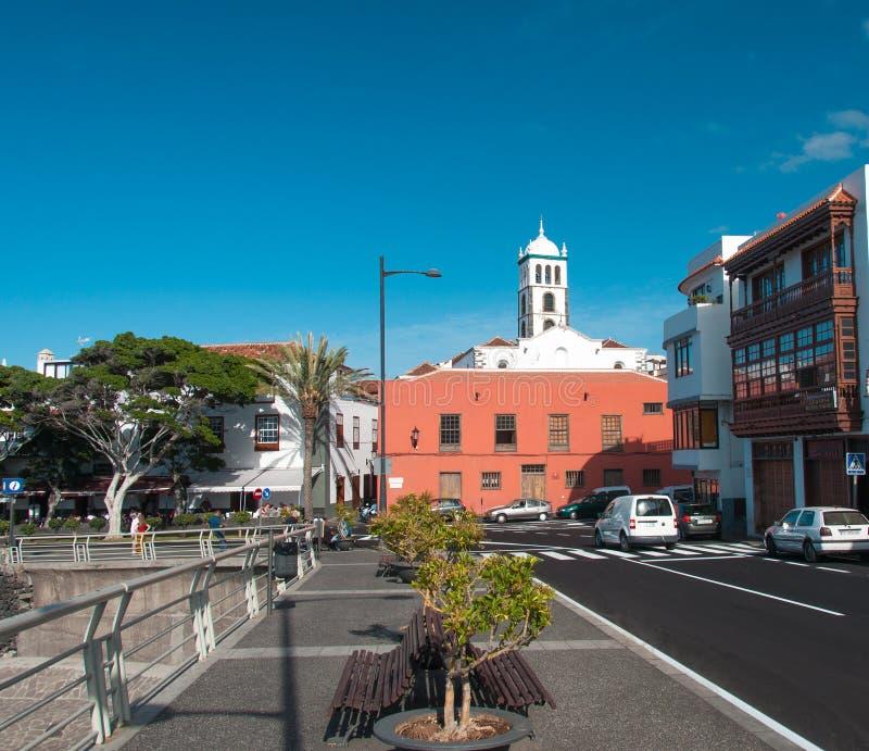 Gata av den Garachico staden arkivfoto
