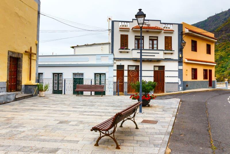 Gata av den Garachico staden på den Tenerife ön fotografering för bildbyråer