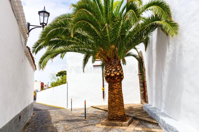 Gata av den Garachico staden på den Tenerife ön arkivbilder