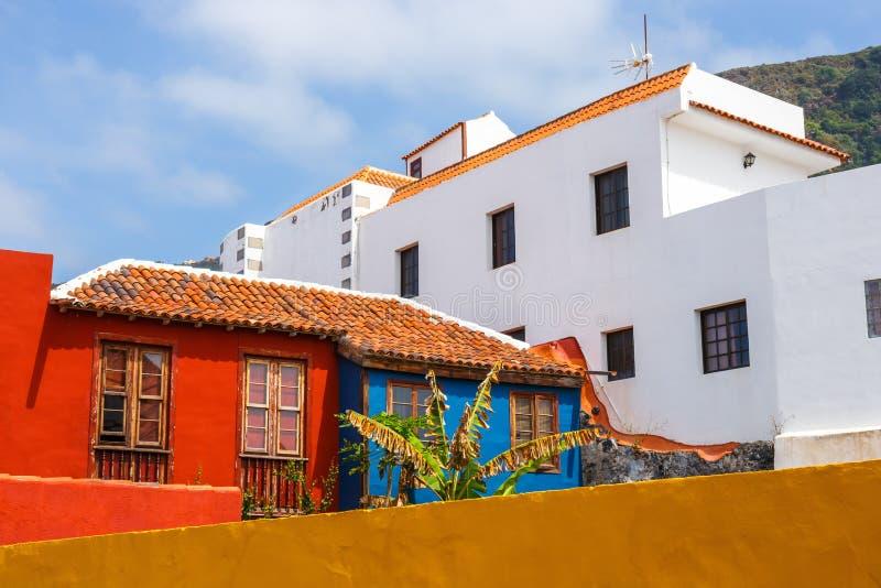 Gata av den Garachico staden på Tenerife royaltyfri bild
