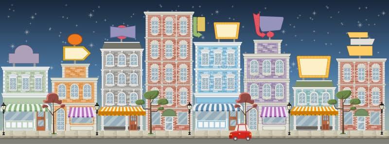 Gata av en färgrik stad vektor illustrationer