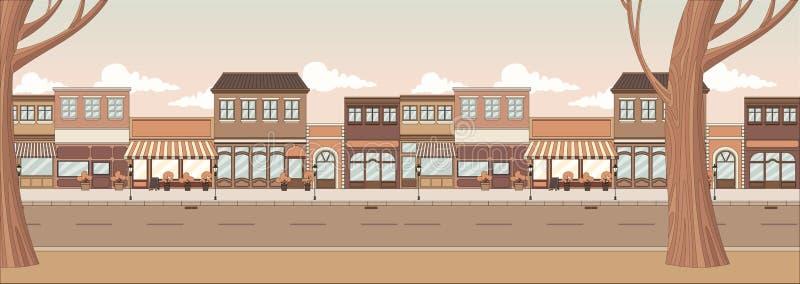 Gata av en stad vektor illustrationer
