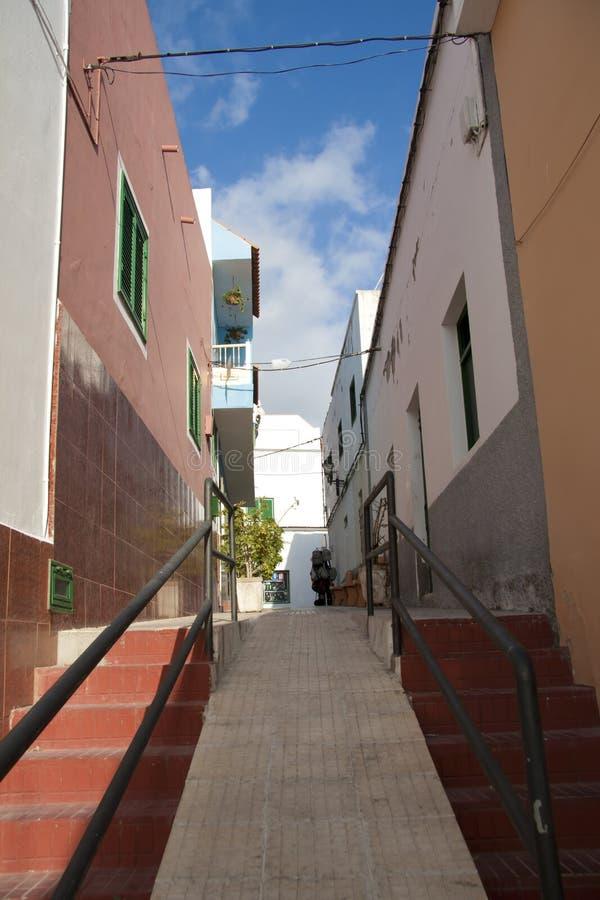 Gata av Los Gigantes, Tenerife royaltyfria bilder