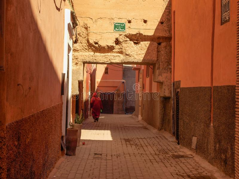Gata av Marrakech royaltyfria foton