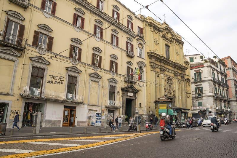 Gata av Naples, Italien fotografering för bildbyråer