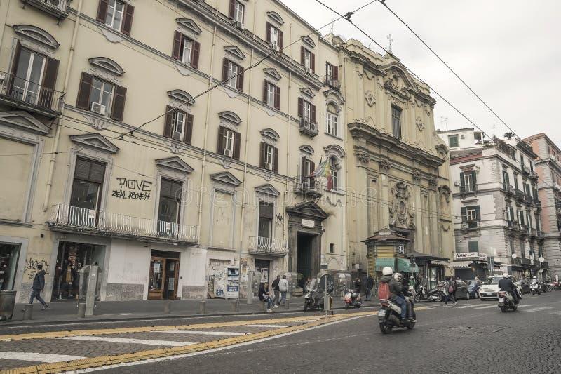 Gata av Naples, Italien royaltyfria foton