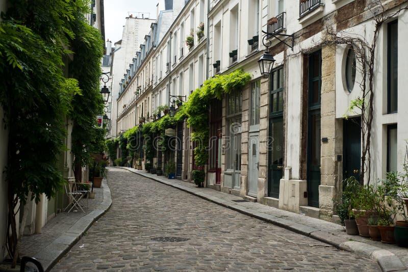 Gata av Paris royaltyfri fotografi