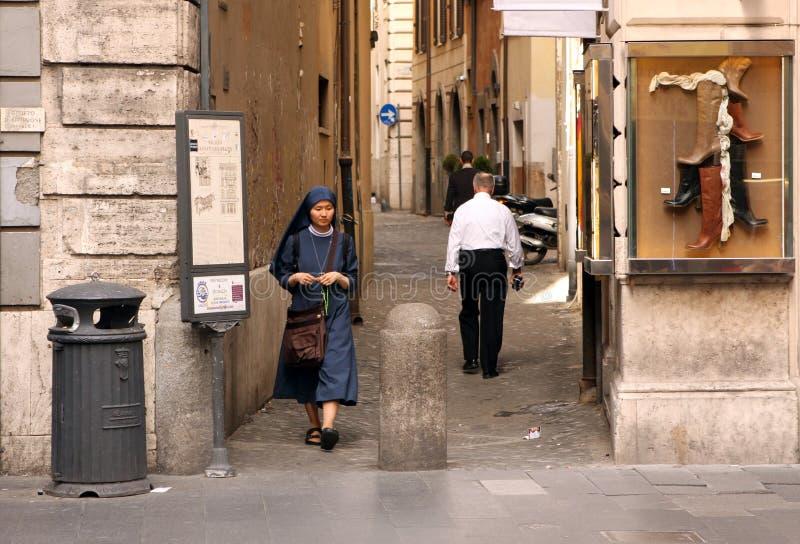 Gata av Rome - Italien arkivbild
