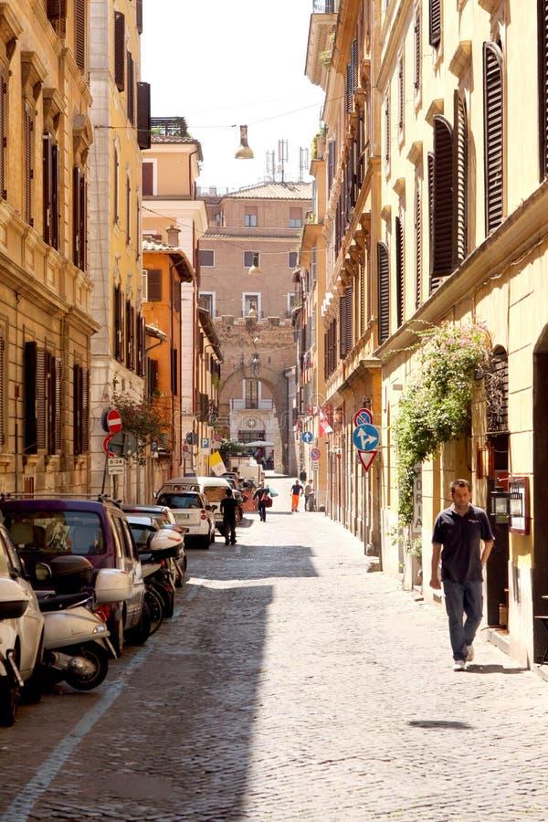Gata av Rome Italien royaltyfri fotografi