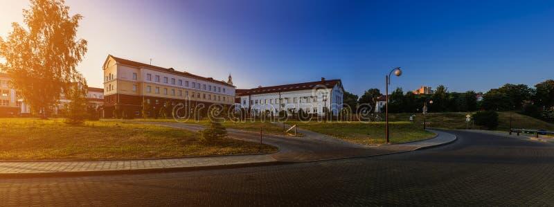 Gata av Stephen Bathory i Grodno, Vitryssland royaltyfri fotografi