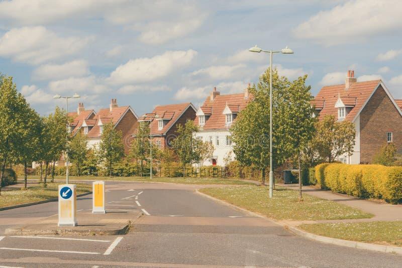 Gata av utveckling för nytt hus i suffolken, England arkivbild