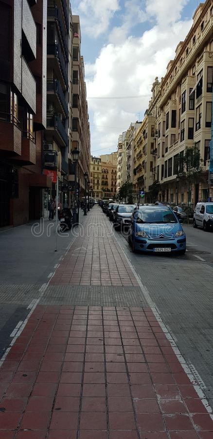 Gata av Valencia arkivbild