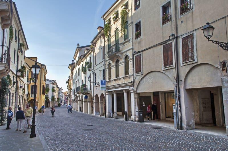 Gata av Vicenza arkivfoton