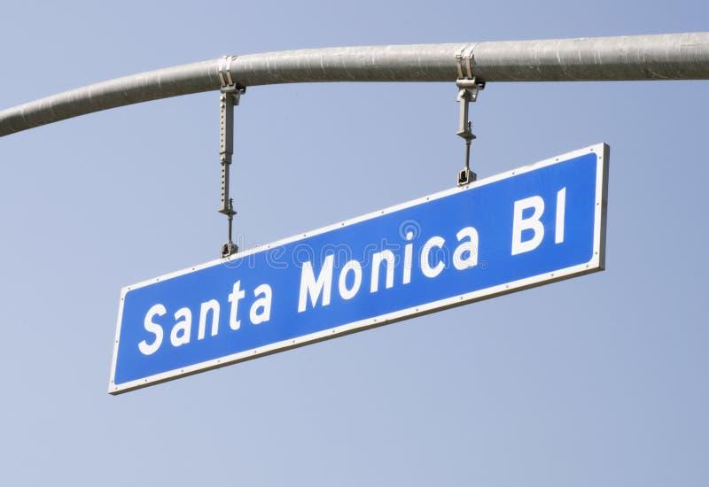 gata för blvdmonica santa tecken arkivfoton