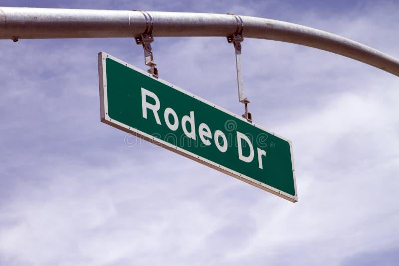 gata för tecken för rodeo för beverly ca drevkullar royaltyfri foto