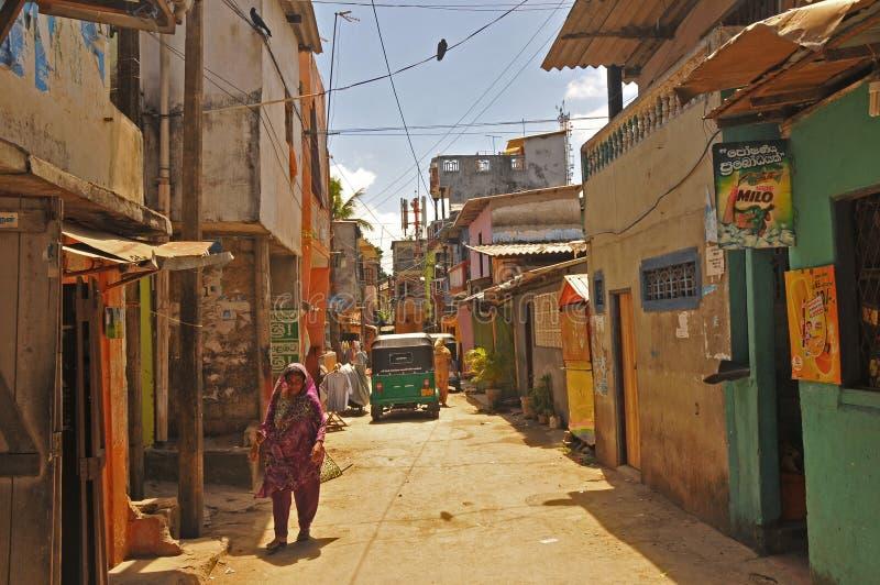 gata för sri för colombo lankanarrow royaltyfria bilder