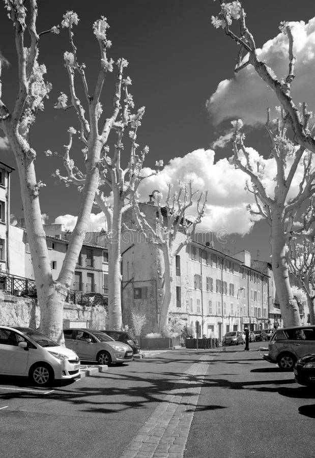 Gata i Avignon royaltyfria bilder