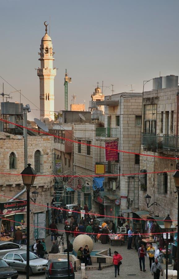 Gata i Betlehem Palestinska territorierna israel royaltyfri foto