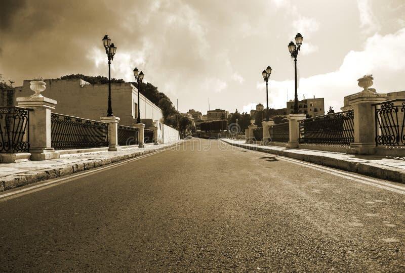 Gata i Birgu royaltyfri bild
