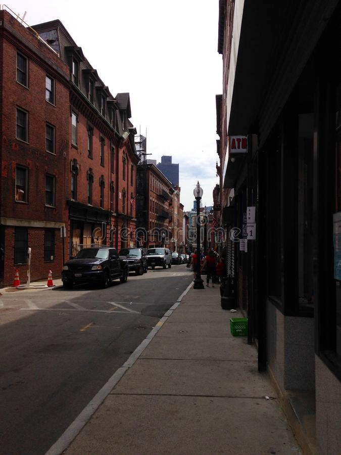 Gata i Boston arkivfoto