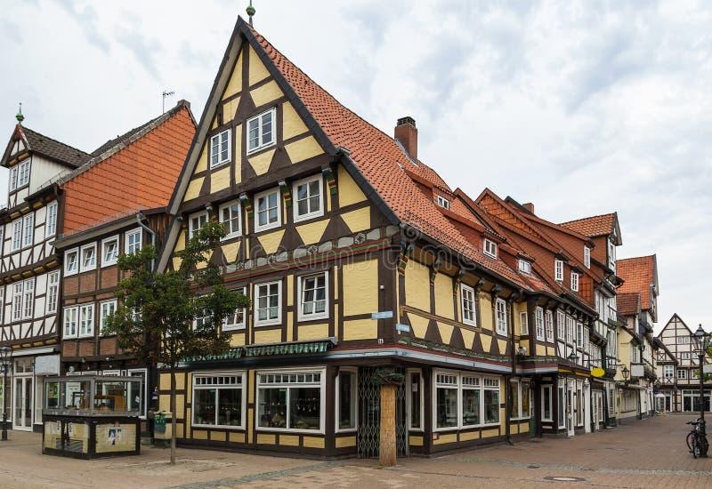 Gata i Celle, Tyskland royaltyfria bilder