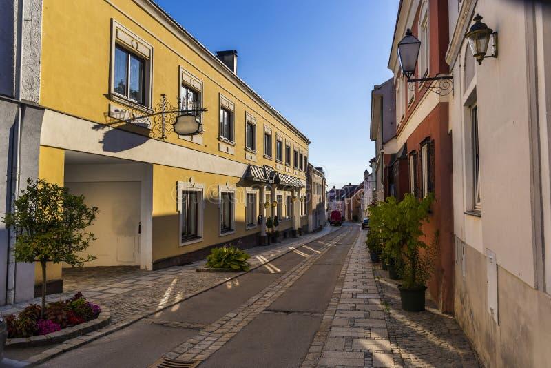 Gata i den Melk staden i Österrike arkivbild
