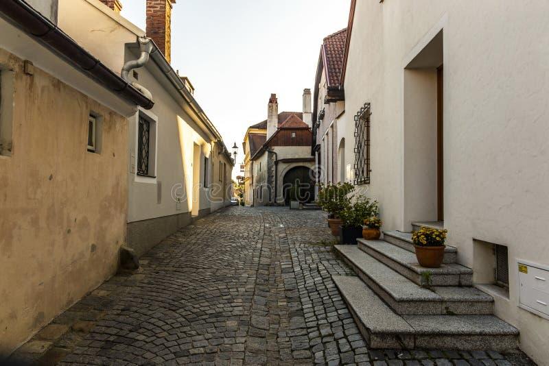 Gata i den Melk staden i Österrike royaltyfri foto