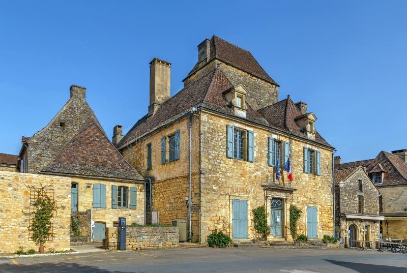 Gata i Domme, Frankrike arkivbilder