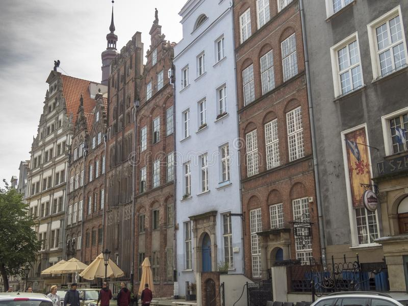 Gata i Gdansk arkivbild