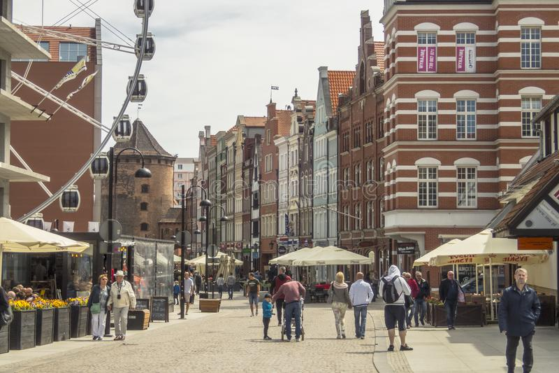 Gata i Gdansk arkivbilder