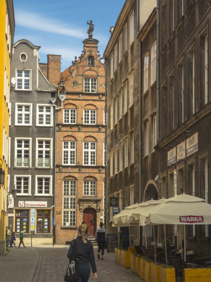 Gata i Gdansk royaltyfri bild
