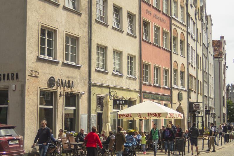 Gata i Gdansk royaltyfri fotografi