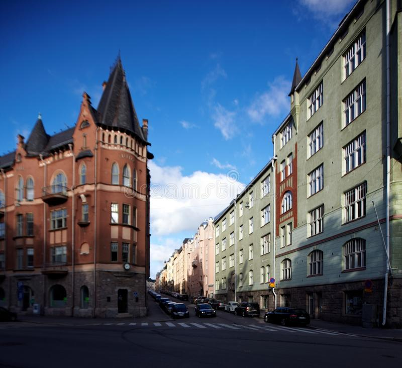 Gata i Helsingfors, Finland royaltyfria bilder