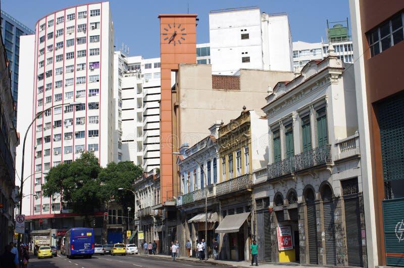 Gata i i stadens centrum Rio de Janeiro royaltyfri foto