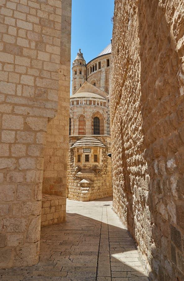 Gata i Jerusalem, Israel royaltyfria foton