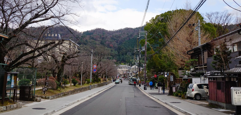 Gata i Kyoto, Japan royaltyfri foto
