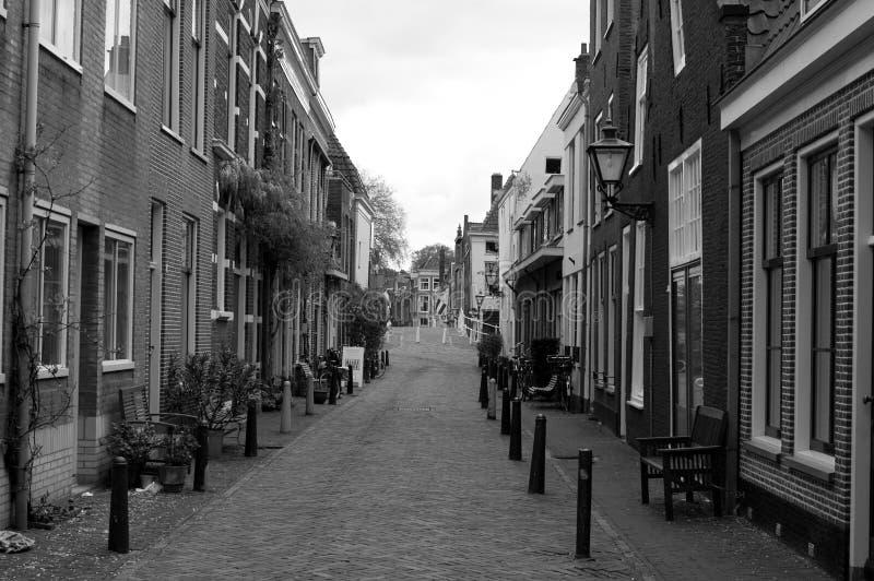Gata i Leiden, Nederländerna royaltyfria bilder