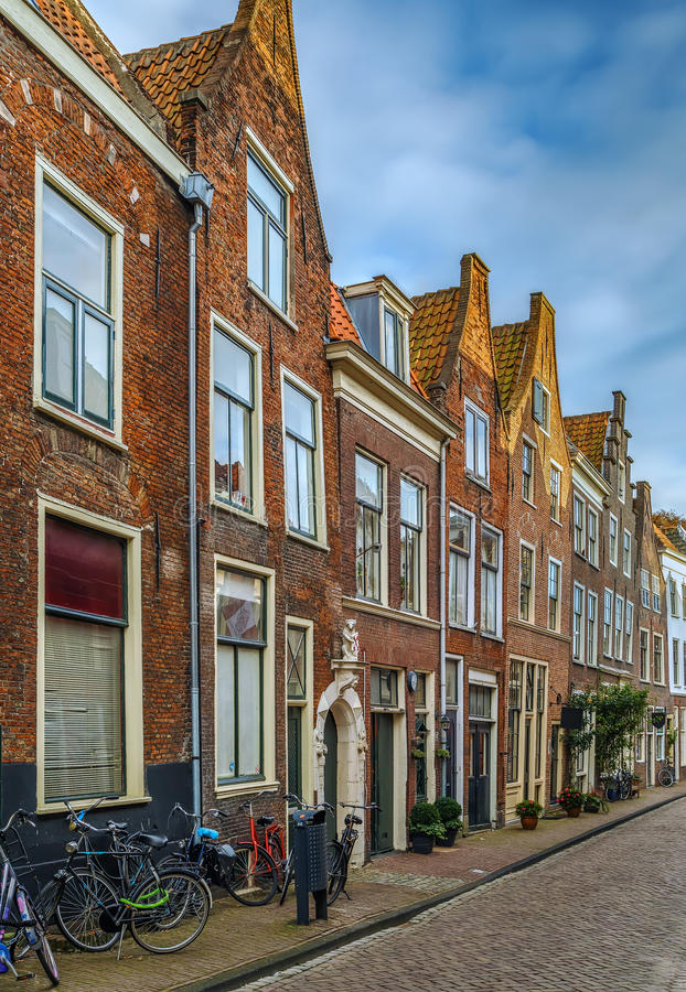 Gata i Leiden, Nederländerna royaltyfri fotografi