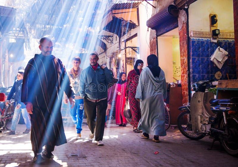 Gata i Marrakech arkivbilder