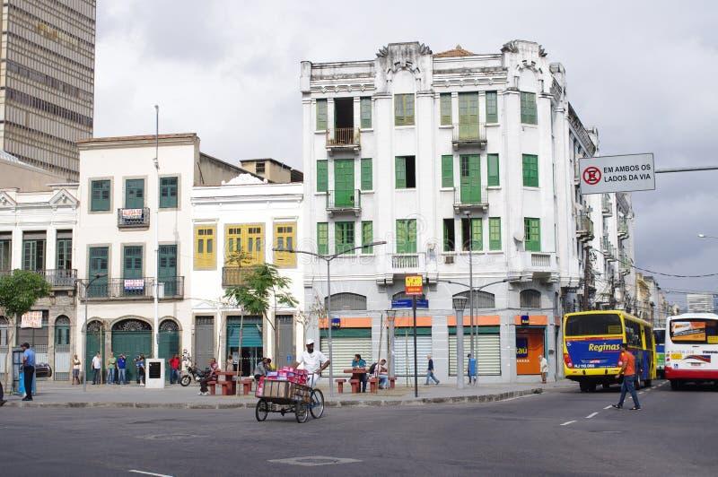 Gata i Rio de Janeiro, Gamboa arkivbild