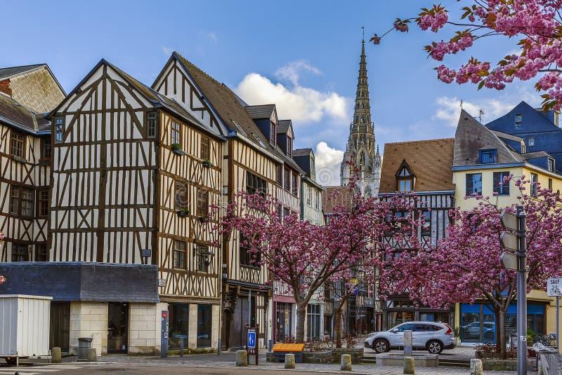 Gata i Rouen, Frankrike royaltyfria bilder