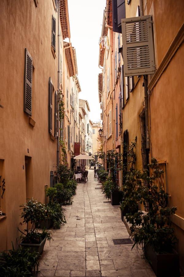 Gata i Saint Tropez arkivfoto
