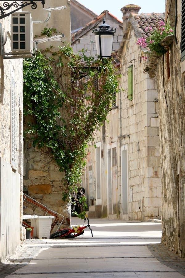 Gata i spliten, Kroatien arkivfoton