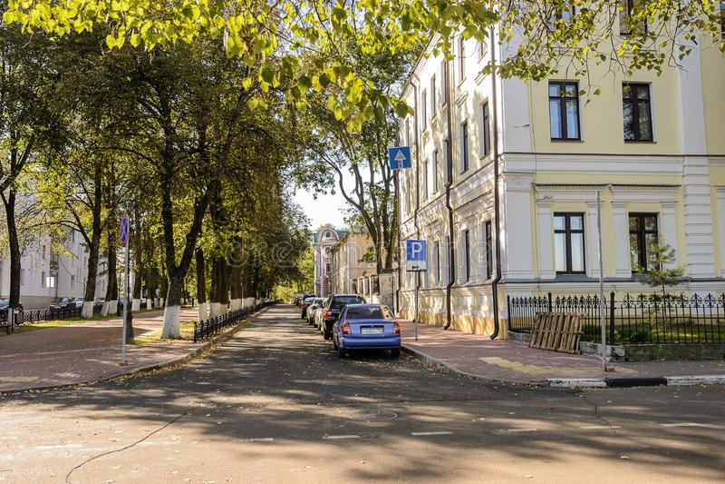 Gata i Yaroslavl, Ryssland ?-?utumn arkivbild