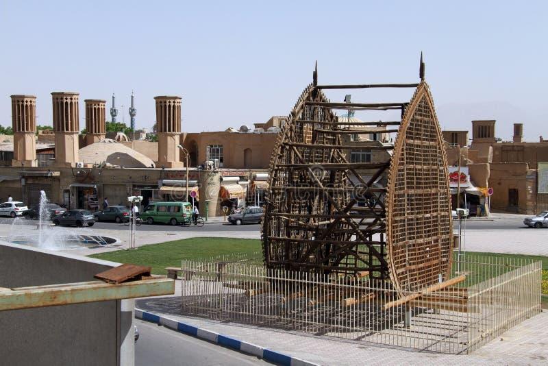 Gata i Yazd royaltyfri bild