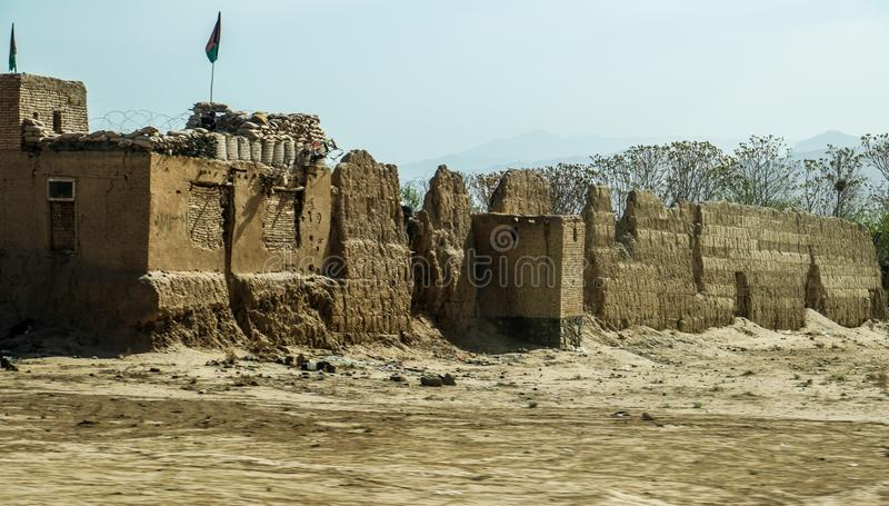 Gata- och byliv i Gardez i Afghanistan i sommaren arkivbilder